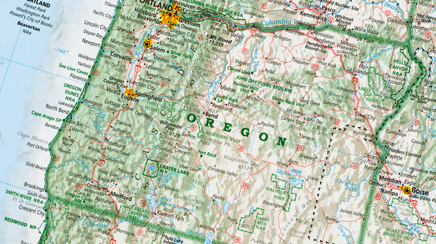 Gold In Oregon Map.A Master Cartographer Shares The Next Essential Geography Of The Us