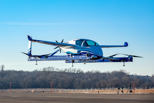 The Boeing Passenger Air Vehicle made its first flight at Manassas Regional Airport in Virginia on Jan. 22.