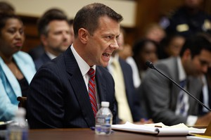 FBI Deputy Assistant Director Peter Strzok testifies before the the House Committees on the Judiciary and Oversight and Government Reform on Capitol Hill, Thursday, July 12, 2018.