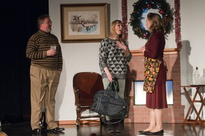 "At the heart of ""Viva's Holiday"" is Viva's growing self-possession, as she prepares to tell her parents how she's been paying the bills. Baritone Bobby Jackson, left, as Dad, soprano Helen Funston, center, as Viva, and mezzo-soprano Sadie Gregg, right, as Mom."