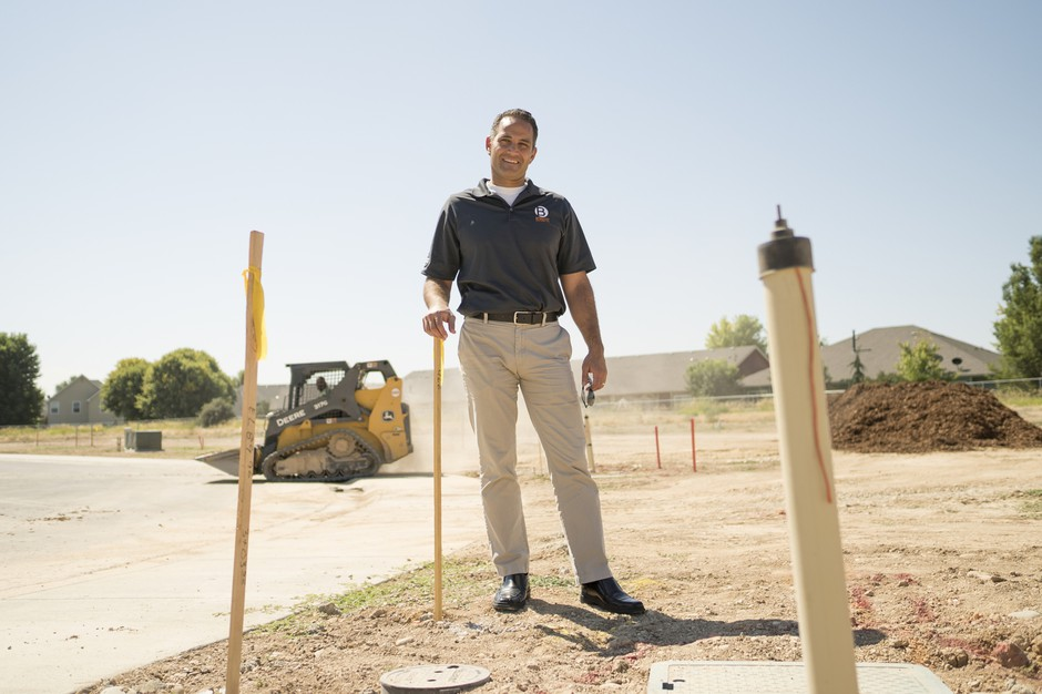 Joe Atalla, an architect by trade who now owns his own building firm, stands at the site of Settlers Lane in Meridian. The site will be home to 19 homes at completion.