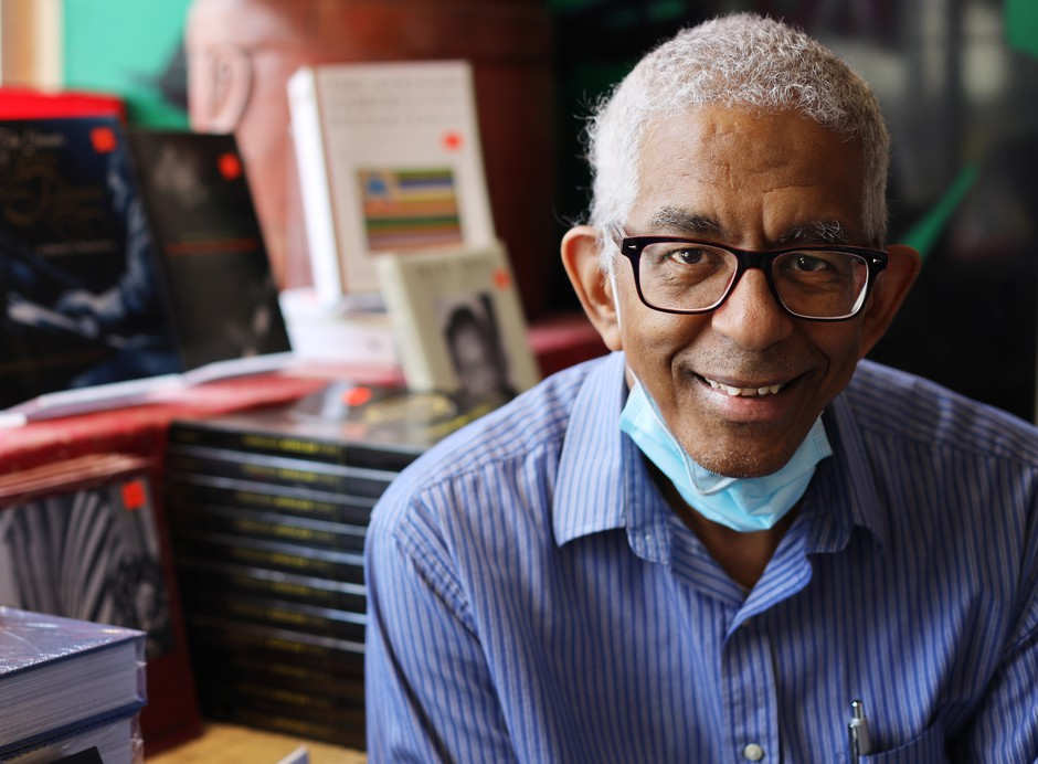 """James Fugate, co-owner of Eso Won Books in Los Angeles, says they have never been busier. """"We decided to stop answering the phones,"""" he says."""