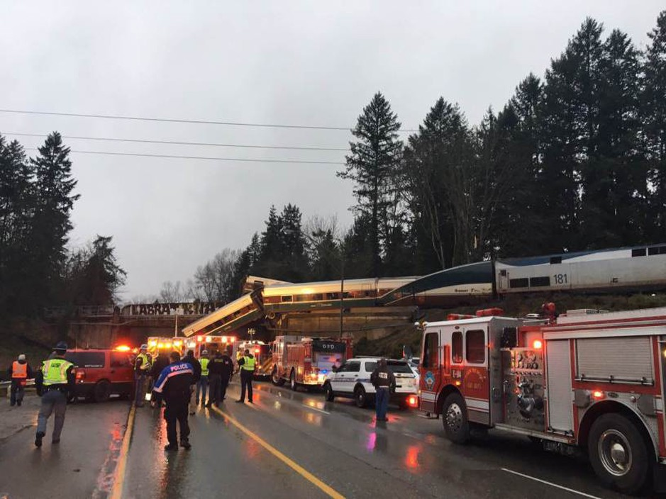 Amtrak Cascades Train was going nearly 80 mph when it derailed on December 18, 2017.