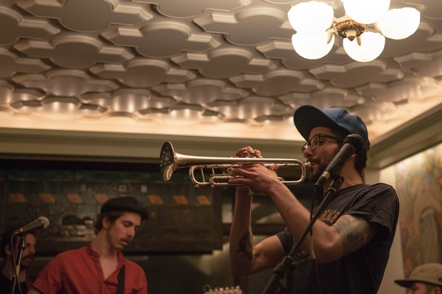 On this Monday, Tribe Mars mixed a little funk, soul, jazz and hip-hop for the listening pleasure of those at Produce Row.