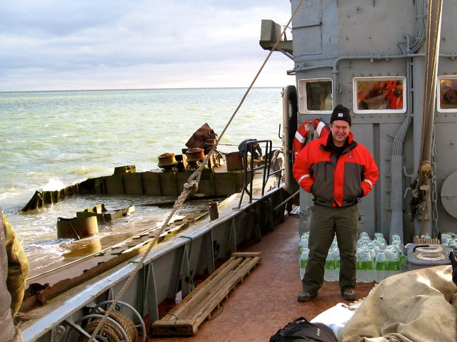 Scientist Kevin Wood at sea near the Siberian city of Anadyr, Russia.