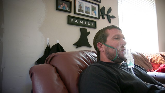 Seth Ellingsworth, 35, spends most days confined to his home in Richland, Washington.