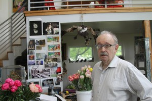 Henk Pander in his home