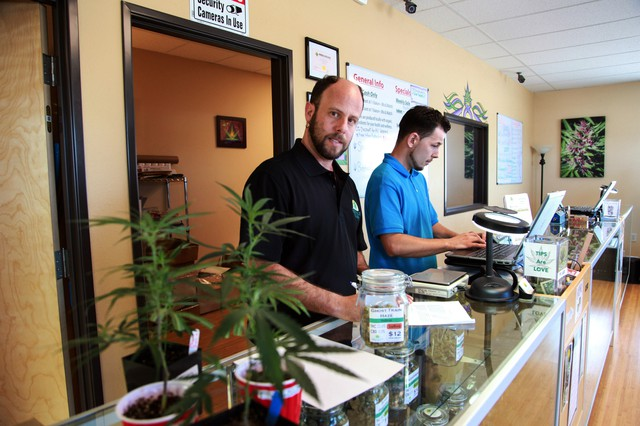 Peter Gross is the chief operating officer of Green Valley Wellness — a cannabis dispensary in Talent, Oregon.