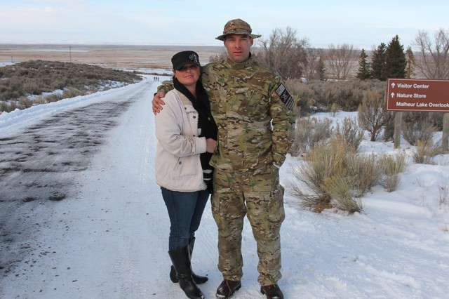 Melissa Cooper with husband Blaine Cooper. They were at the occupied refuge since Jan. 3.