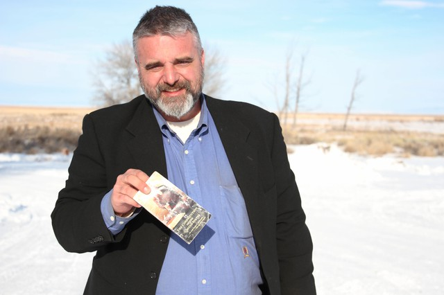 Jason Patrick, seen here holding his pocket Constitution during the early days of the armed takeover of the Malheur National Wildlife Refuge, is one of seven defendants currently awaiting trial for their roles in the occupation.
