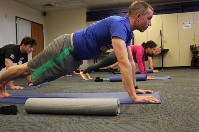 Bend Police spends about $18,000 a year to bring in a yoga teacher four days a week. The department has seen a reduction in the severity of workforce injuries among officers since implementing the program.