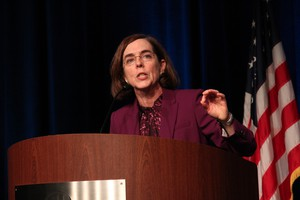 Oregon Gov. Kate Brown said she will not debate Republican gubernatorial candidate Bud Pierce until September.