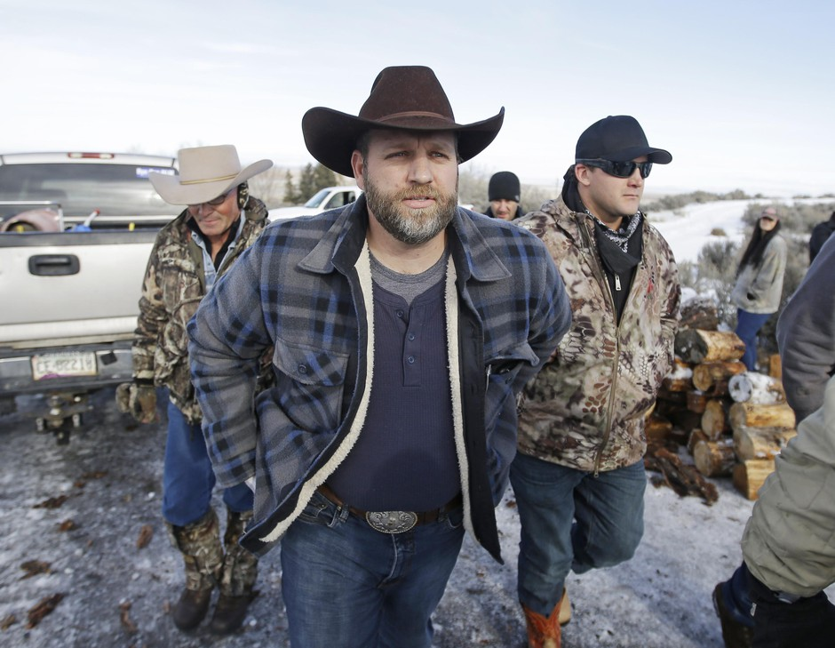 Ammon Bundy, one of the sons of Nevada rancher Cliven Bundy, at Malheur National Wildlife Refuge near Burns, Oregon, Jan. 6, 2016.