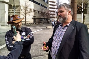Oregon occupier Jason Patrick was found guilty of conspiracy but not guilty of carrying a firearm in a federalfacility.