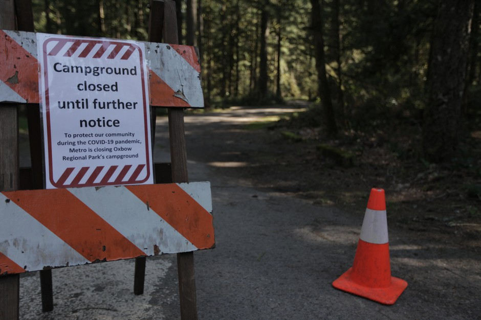 Visitors to Oregon's many parks and recreation areas will be greeted with signs like this one at Oxbow Regional Park