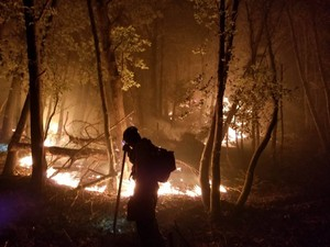 The first day of school at the district has been set back by at least a week because of the 100,000-plus-acre fire that remains zero percent contained.