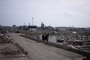 The scene near Kadonowaki shortly after the 2011 tsunami.