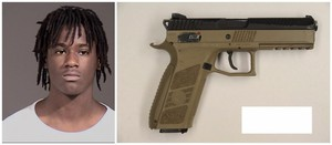 Quanice Derrick Hayes and the replica firearm found near him after he was fatally shot by police.