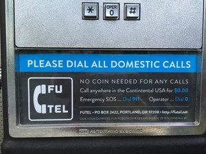 Futel's first phone: No coin needed for any calls.