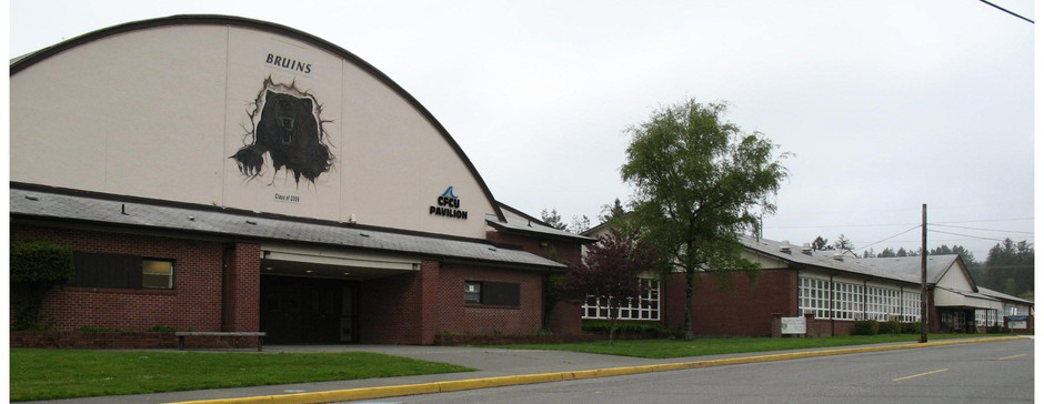 Brookings-Harbor High School is pictured in an undated photo.