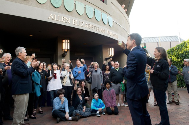 The 2014 ribbon-cutting for Oregon Shakespeare Festival's re-naming of the Allen Elizabethan Theatre in Ashland.