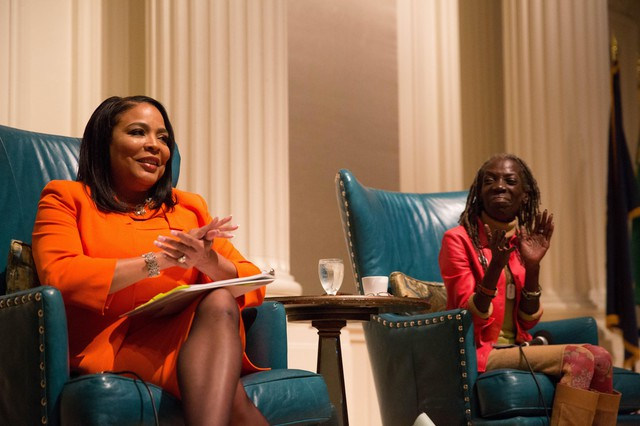 Portland City Council candidates Loretta Smith, left, and Jo Ann Hardesty debate at City Club on Friday, Oct. 5, 2018.