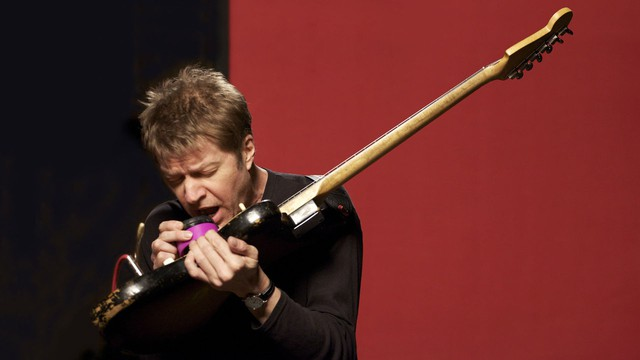 Nels Cline, lead guitarist for the band Wilco, performs at Reel Music.
