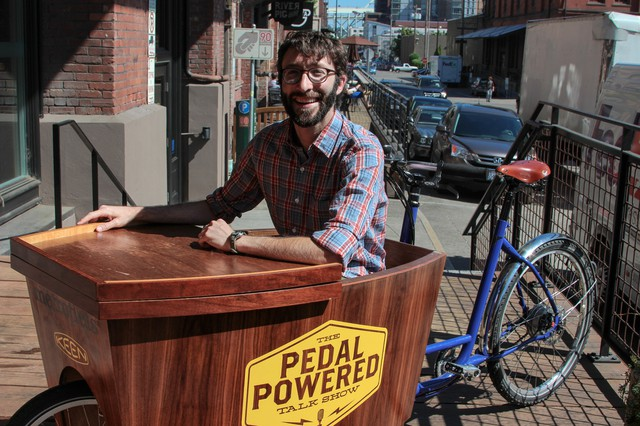 Boaz Frankel, host and co-creator of The Pedal Powered Talk Show