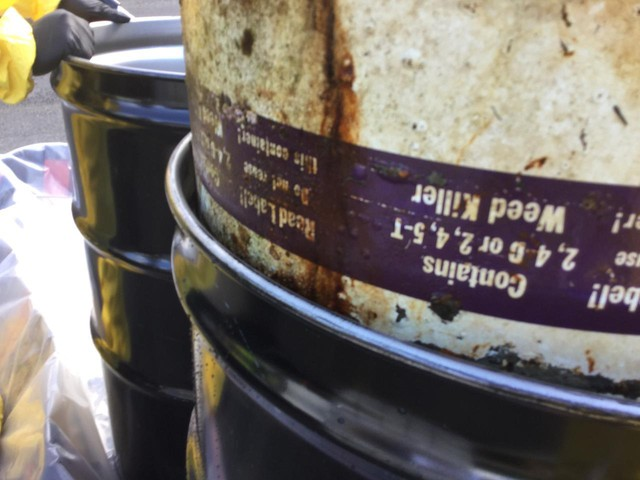 A barrel that once contained either 2,4,5-T or 2,4-D was removed from Wallowa Lake. When combined at high strengths, those chemicals create Agent Orange, an herbicide that was used during the Vietnam War, with devastating consequences.