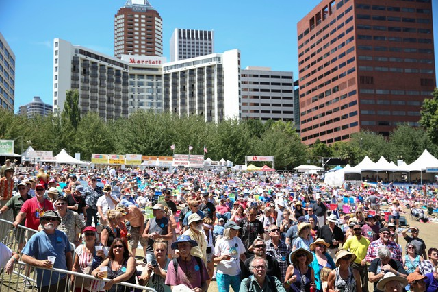 The four-day-long Waterfront Blues Festival brings crowds of music lovers to McCall Waterfront Park in Portland.