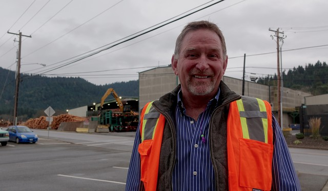 Swanson Group CEO Steve Swanson at his Glendale lumber mill.