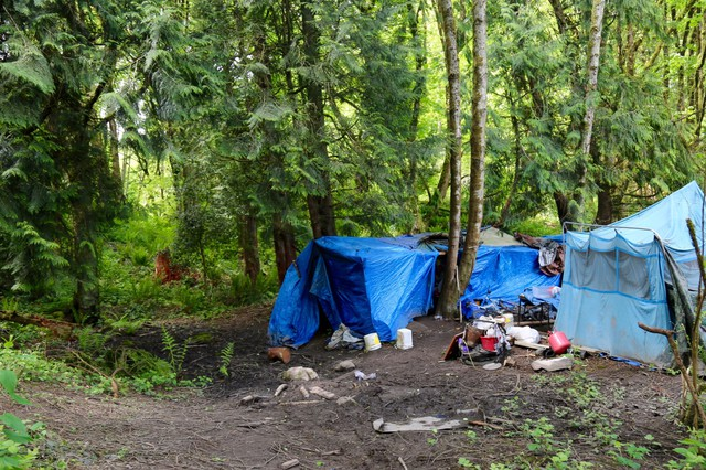 Homeless service providers say counting homeless in rural areas can be more difficult because they are often less visible than in urban areas. After Love Overwhelming closed, many left town to make camp in the woods.