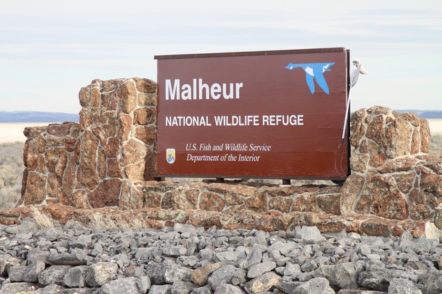 A sign welcomes visitors to the Maheur National Wildlife Refuge in Harney County. In early 2016, a group of men and women, mostly from out of state, took over this remote bird sanctuary for 41 days.