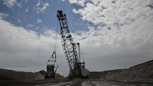 A coal mine operation in Wyoming.