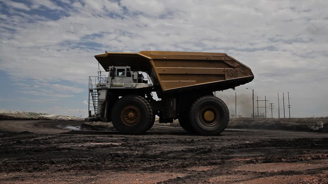 File photo of a truck at a Wyoming coal mine.