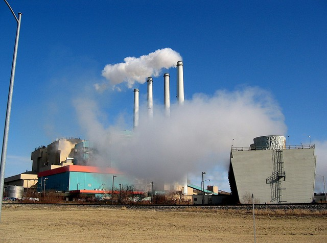 The PPL coal-fired power plant in Colstrip, Montana, in 2008. It's one of five coal-burning power plants in Montana.