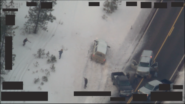 "FBI footage showing the joint FBI and Oregon State Police traffic stop and OSP officer-involved shooting of Robert ""LaVoy"" Finicum."