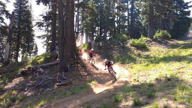 """Mount Bachelor opened to mountain bikers to cater to Bend's growing """"bike scene."""""""