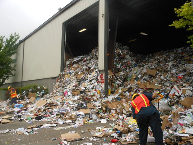 At least 2.5 percent of the material collected from curbside recycling bins will end up going to a landfill after it leaves the Far West Fibers recycling facility.