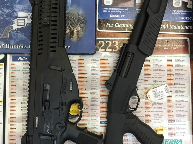 Weapons for sale at the Roseburg Gun Shop.