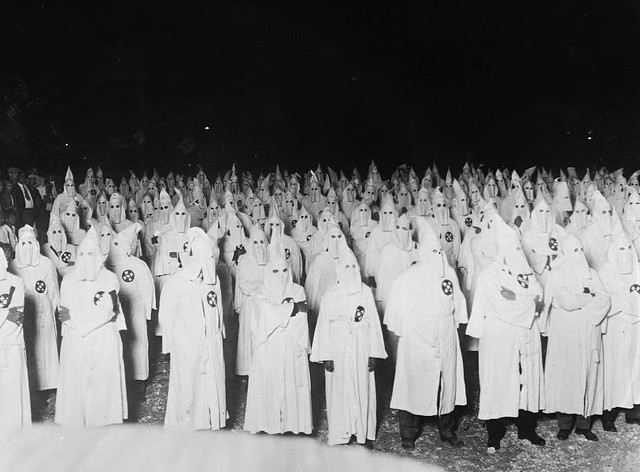 Klu Klux Klan, between 1920 and 1921.