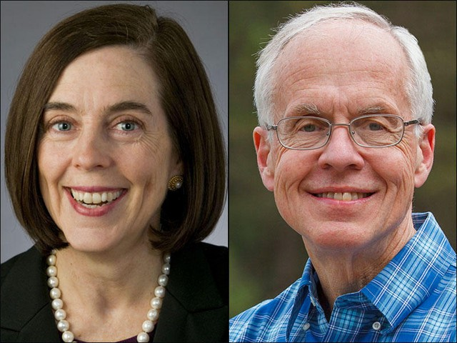 Oregon Gov. Kate Brown and Republican nominee Bud Pierce are scheduled to debate five times in September and October.