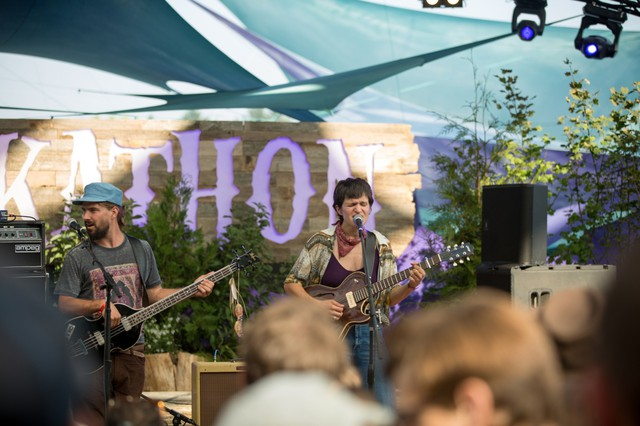 Big Thief rocked a packed crowd during their set on the Mount Hood Stage at Pickathon Friday, Aug. 4, 2017.