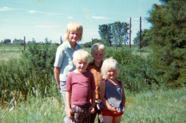 """Ruth Wariner (far right) with her siblings around 1977. Wariner is the author of """"The Sound of Gravel,"""" a memoir about her childhood in a polygamist Mormon community in Mexico."""