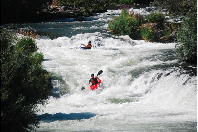 One of the class IV rapids on the middle stretch of the Rogue River