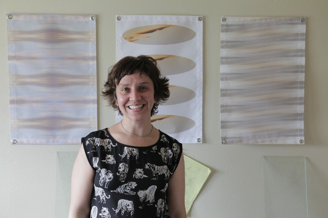 Erika Bartlett's geometric designs are sourced from nature photographs and printed on cell phone cases, curtains, and more.
