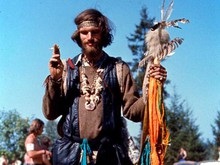 "One of the thousands of ""hippies"" that attended the Vortex festival."
