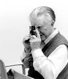 William Stafford with one of his cameras