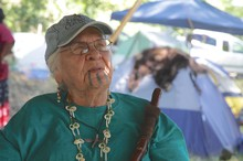 Martin's mother, Agnes Pilgrim, was the first in her tribe to renew the moko tradition.