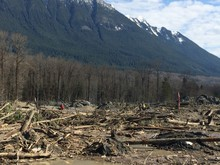 The Oso mudslide April 6.